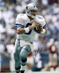 Troy Aikman Dallas Cowboys Autographed 16'' x 20'' Scramble Photograph - Mounted Memories