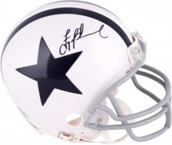 Troy Aikman Dallas Cowboys Autographed Riddell Throwback Mini Helmet - Mounted Memories