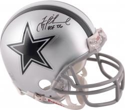 Troy Aikman Dallas Cowboys Autographed Riddell Mini Helmet with HOF 06 Inscription