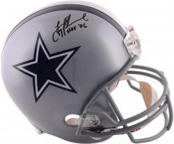 Troy Aikman Dallas Cowboys Autographed Riddell Replica Helmet with HOF 06 Inscription