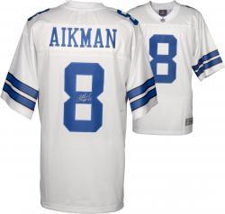 Troy Aikman Dallas Cowboys Autographed Pro Line White Jersey with HOF 06 Inscription
