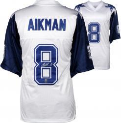 Troy Aikman Dallas Cowboys Autographed White Custom Jersey
