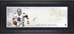Troy Aikman Dallas Cowboys Framed Autographed 10'' x 30'' Field General Photograph-Limited Edition of 24 - Mounted Memories