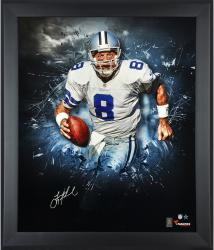Troy Aikman Dallas Cowboys Framed Autographed 20'' x 24'' In Focus Photograph - Mounted Memories