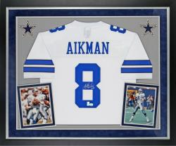"Troy Aikman Autographed Cowboys Jersey - ""SB Champs"" Inscribed, Deluxe Framed"