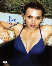 Aimee Teegarden Sexy Signed 11x14 Photo Autographed Psa/dna #w24453