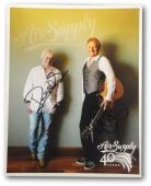 Air Supply Dual Signed Autographed 8x10 Photo 40th Anniversary Graham Russell