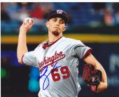 A.J. COLE  WASHINGTON NATIONALS  ACTION SIGNED 8x10