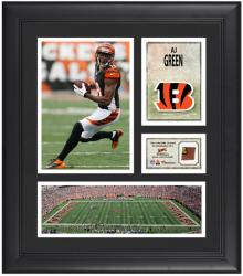 Aj Green Cincinnati Bengals Framed 15'' x 17'' Collage with Game-Used Football - Mounted Memories
