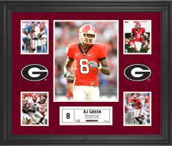 AJ Green Georgia Bulldogs Framed 5-Photo Collage