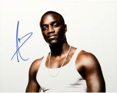 Akon Autographed 11'' x 14'' Tank Top Photograph