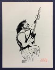 Al Hirschfeld signed 8x10 Bruce Springsteen art photo print autograph CBM COA