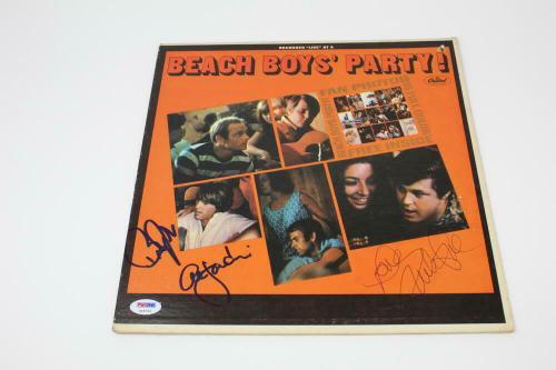 Al Jardine, Bruce Johnston +1 Signed Autograph Album Record - The Beach Boys Psa