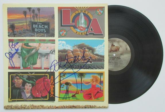 Al Jardine, Bruce Johnston signed autographed Beach Boys L.A. album, Vinyl,Proof