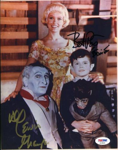 AL LEWIS BUTCH PATRICK  MUNSTERS PSA DNA Coa Hand Signed 8X10 Photo Autograph
