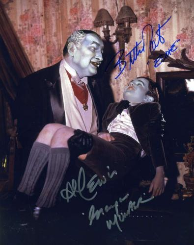AL LEWIS BUTCH PATRICK PSA DNA Coa Hand Signed Munsters 8X10 Photo Autograph