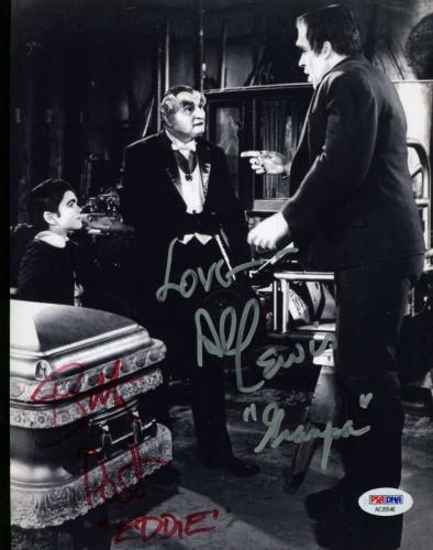AL LEWIS BUTCH PATRICK  PSA DNA Coa Hand Signed MUNSTERS 8X10 Photo Autographed