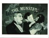 "AL LEWIS & BUTCH PATRICK ""THE MUNSTERS"" TV Sitcom 1964-66 Signed by Both 10x8 B/W Photo"
