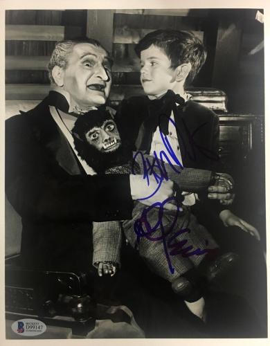 "AL LEWIS ""Grandpa"" BUTCH PATRICK ""Eddie"" Signed 8x10 Photo The Munsters BAS COA"