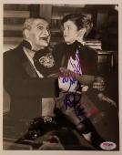 "AL LEWIS ""Grandpa"" BUTCH PATRICK ""Eddie"" Signed 8x10 Photo The Munsters PSA COA"