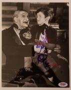 "AL LEWIS ""Grandpa"" BUTCH PATRICK ""Eddie"" Signed 8x10 Photo The Munsters PSA COA"