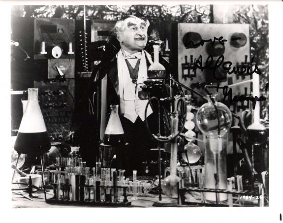 """AL LEWIS -GRANPA MUNSTER of """"THE MUNSTERS"""" Passed Away 2006-Signed 10x8 B/W Photo"""