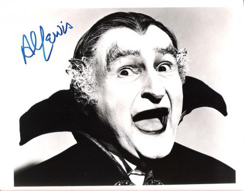 """AL LEWIS """"THE MUNSTERS"""" as GRANDPA Signed 10x8 B/W Photo"""