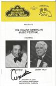 Al Martino Music Legend Signed Autographed Florida Showcase Booklet W/coa B