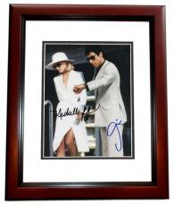 Al Pacino and Michelle Pfeiffer Signed - Autographed SCARFACE 8x10 inch Photo MAHOGANY CUSTOM FRAME - Guaranteed to pass PSA or JSA