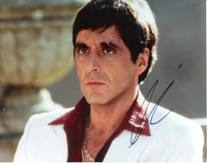 "AL PACINO as TONY MONTANA in ""SCARFACE"" Signed 10x8 Color Photo"
