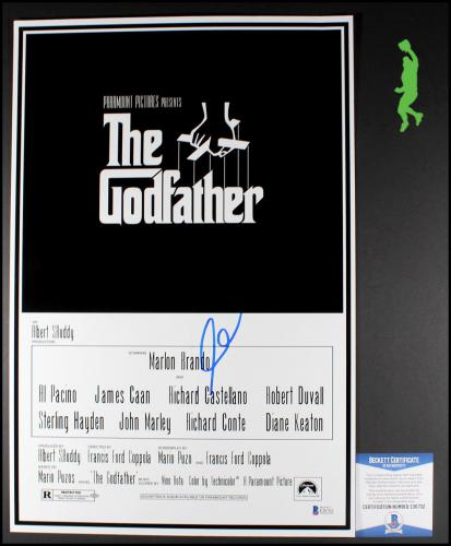 Al Pacino Autograph Signed The Godfather 12x18 Movie Poster Picture Beckett Coa