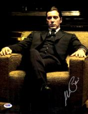 """Al Pacino Autographed 11"""" x 14"""" Godfather Sitting on Couch Wearing Suit Vertical Photograph - PSA/DNA COA"""