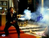"Al Pacino Autographed 11"" x 14"" Scarface Shooting Enemies Photograph - PSA/DNA COA"