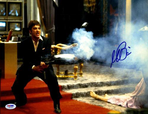 "Al Pacino Autographed 11"" x 14"" Scarface Shooting Enemies Photograph - PSA/DNA COA"