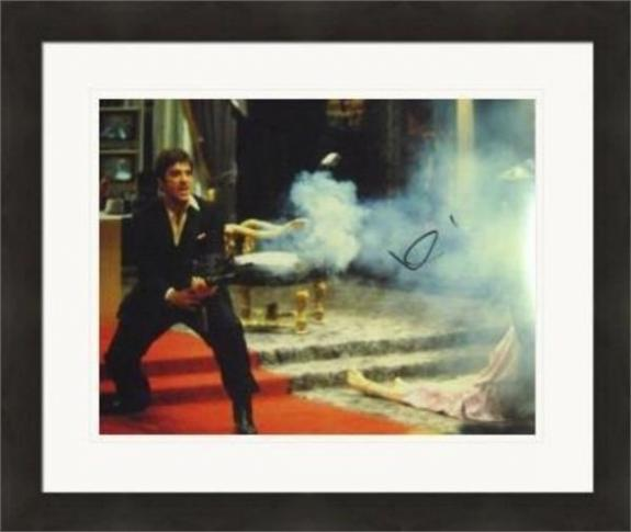 Al Pacino autographed 11x14 photo (Scarface Tony Montana with his little friend) #SC16 Matted & Framed