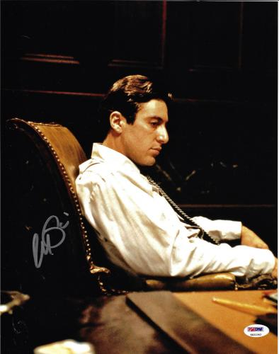 Al Pacino Autographed 11x14 The Godfather Photo Michael Corleone - PSA/DNA