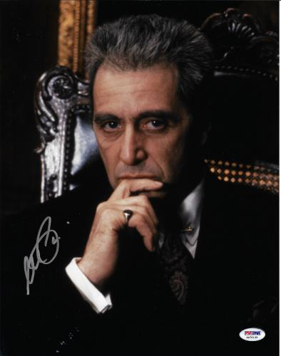 Al Pacino Autographed 11x14 The Godfather Photo Michael Corleone - PSA/DNA 3