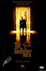 "Al Pacino Autographed 12""x 18"" The Godfather III Movie Poster - PSA/DNA COA"
