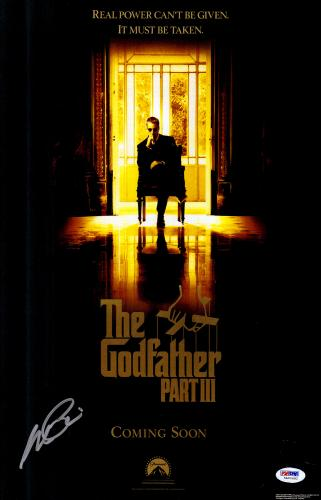 "Al Pacino Autographed 12""x 18"" The Godfather III Movie Poster - PSA/DNA COA"
