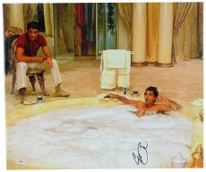 "Al Pacino Autographed 20""x 24"" Scarface Hot Tub Stretched Canvas - BAS COA"