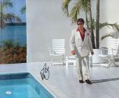 "Al Pacino Autographed 20""x 24"" Scarface Pool Stretched Canvas - BAS COA"