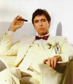 "Al Pacino Autographed 20""x 24"" Scarface White Tux Stretched Canvas - BAS COA"