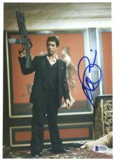 "Al Pacino Autographed 8""x 10"" Scarface Holding Gun in the Air Photograph - Beckett COA"