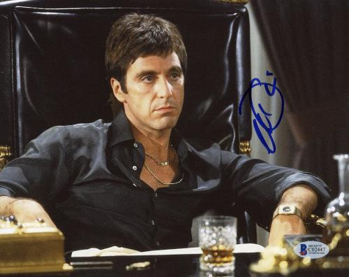 "Al Pacino Autographed 8""x 10"" Scarface Tony Montana Sitting In Chair Photograph - Beckett COA"