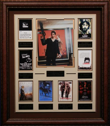 Al Pacino Autographed Framed Movie Collection