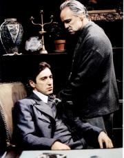 Al Pacino Autographed Godfather With Marlon Brando 11x14 Photo AFTAL UACC RD COA