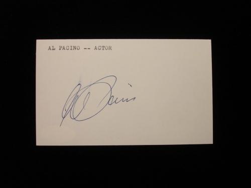 Al Pacino Autographed Index Card - JSA