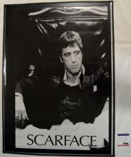 Al Pacino Autographed On The Throne Scarface Poster Psa/Dna AFTAL