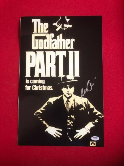 "Al Pacino ""Autographed"" (PSA / DNA) 11"" x 17"" Photo (Godfather PART II) Scarce"