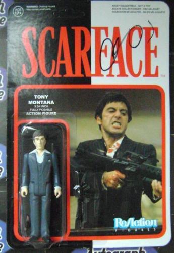 Al Pacino autographed Sacrface Toy Box Figure Tony Montana